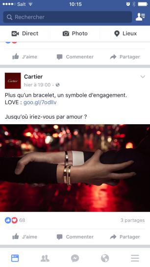 Cartier Facebook