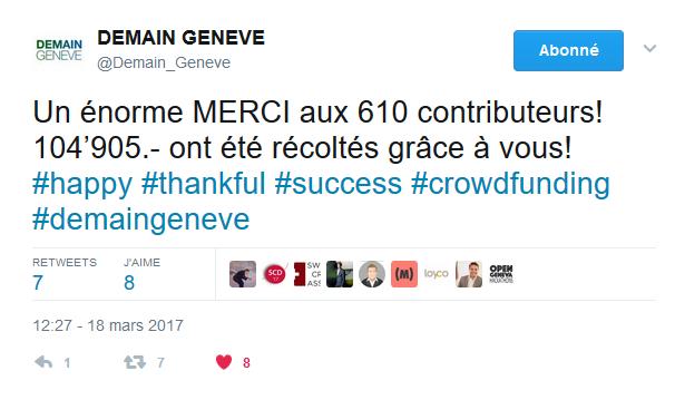 Fin de campagne pour Demain Genève