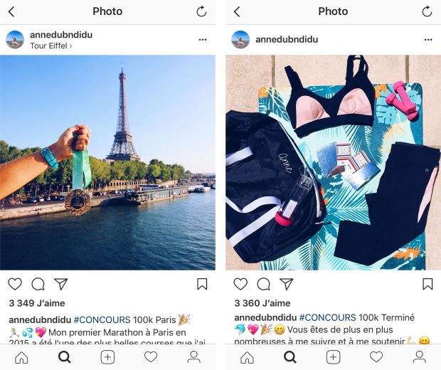 Exemple de concours Instagram