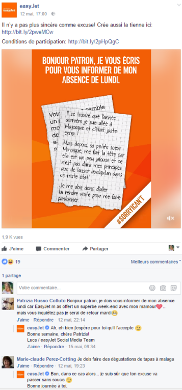 Sorry I Can't - concours Facebook 2017
