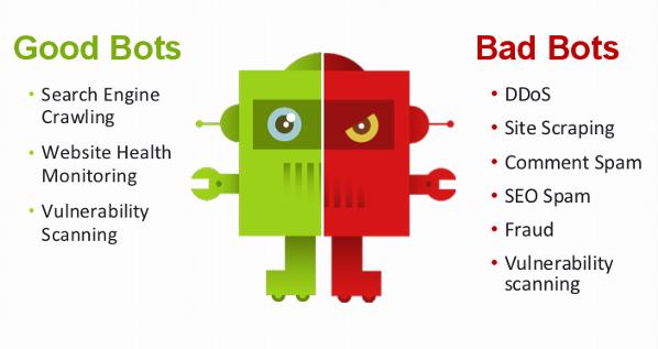Illustration Good Bots vs Bad Bots